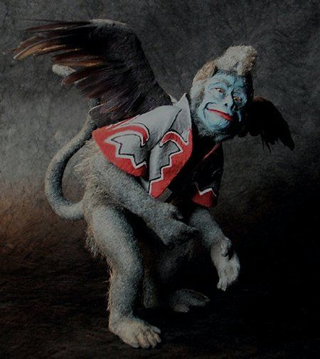 Flying monkeys from the wizard of oz.  One of the scariest things from my childhood, a memory, fond or not!