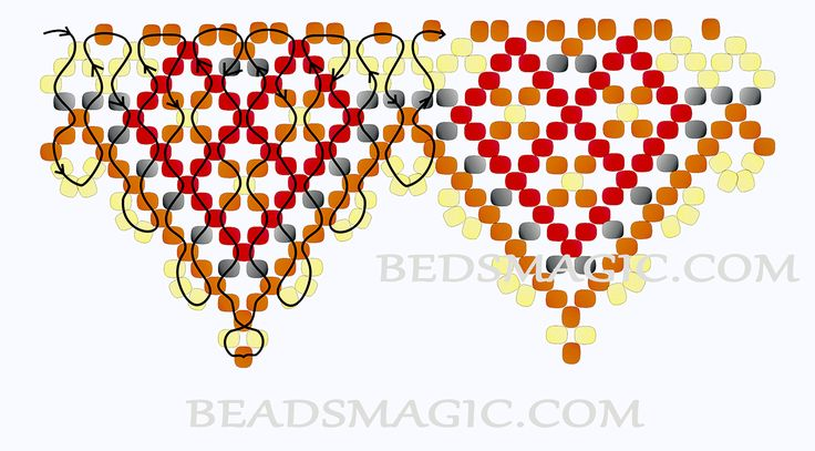 Free pattern for beaded necklace Desert Sun | Beads Magic - 2.  Use Seed Beads 11/0