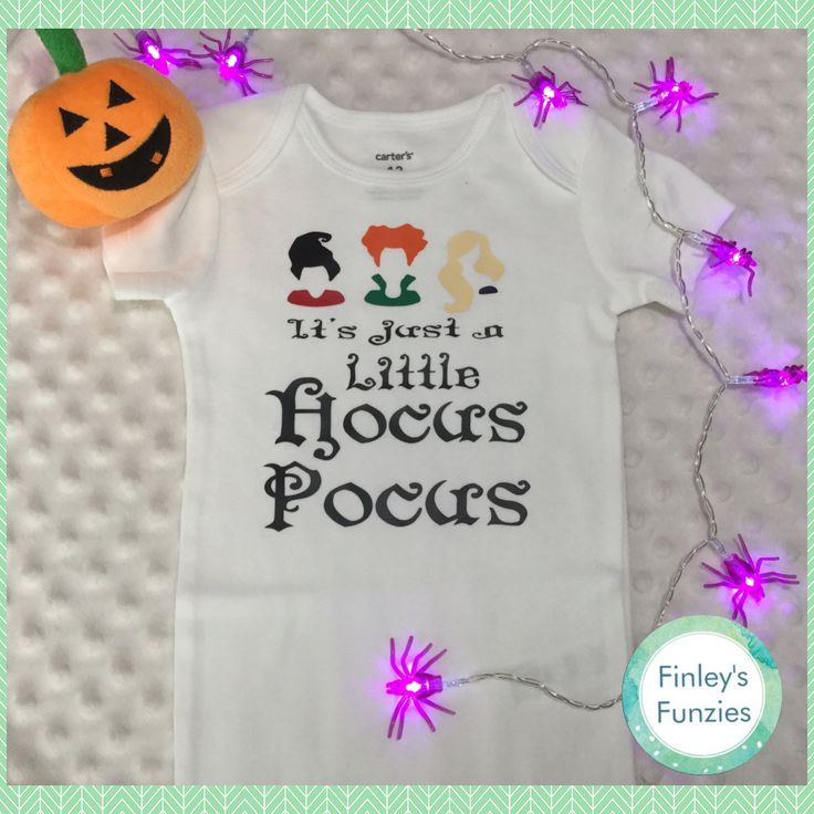 Its just a little hocus pocus Baby Onesie Halloween toddler shirt by FinleysFunzies on Etsy