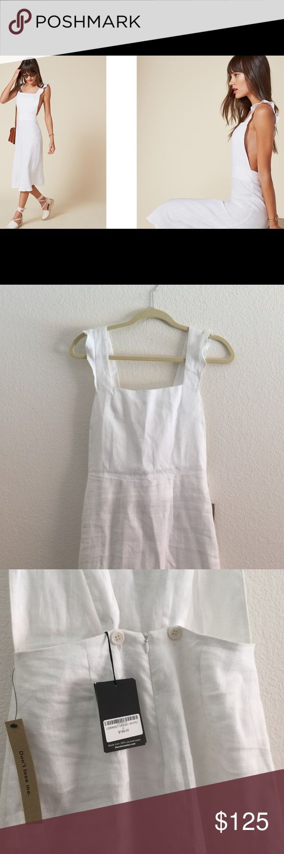 ✨NWT✨ Brand new Reformation Linen Dress Brand new with tag dress bought at Reformation sale recently. It doesn't fit me right so my loss is your gain! Made of beautiful white linen. Midi-length. Low back design. So elegant and feminine. No trades. Price firm. Reformation Dresses Midi