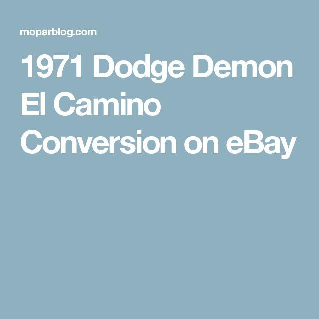 1971 Dodge Demon El Camino Conversion on eBay