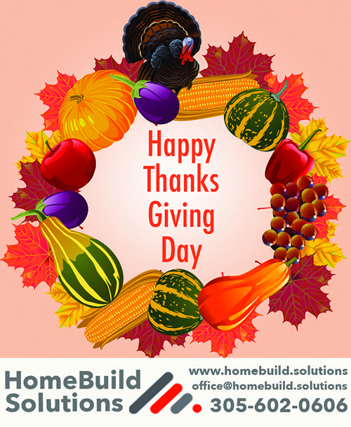 Happy Thanksgiving from HomeBuild Solutions