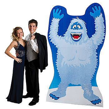 The Rudolph Bumble Standee shows off the Abominable Snow Monster of the North standing tall with this hands in the air.