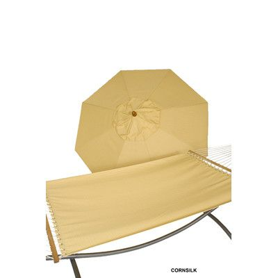 Buyers Choice Phat Tommny Umbrella and Hammock Combo Color: Cornsilk