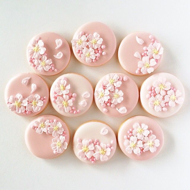 cherry blossom cookies