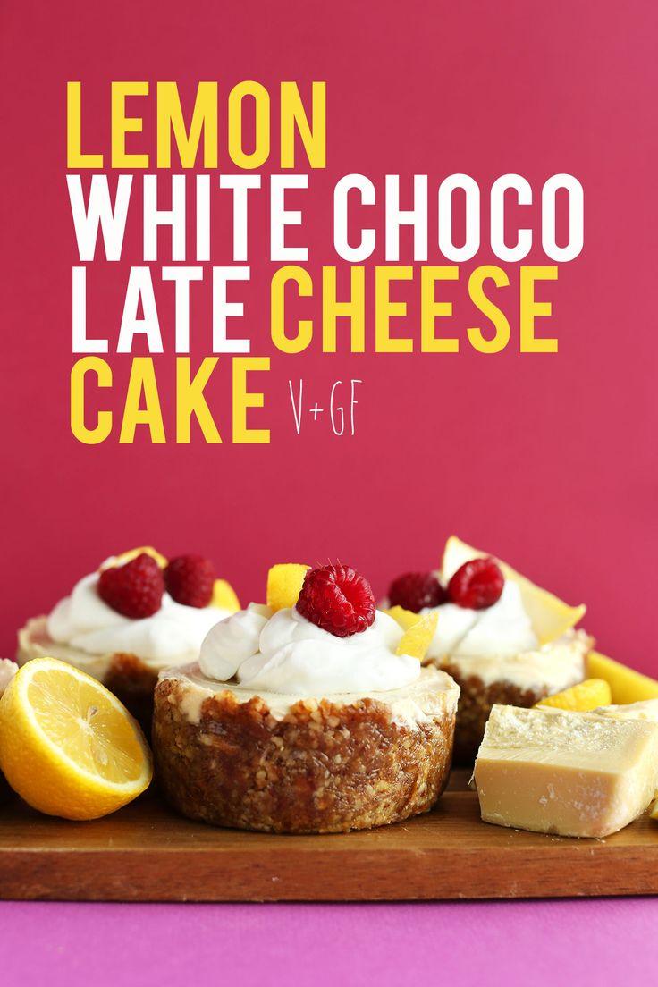 CREMA RICA Limón Blanco Pasteles de queso de chocolate con nuez Fecha corteza!  #Vegan #Glutenfree Y #minimalistbaker #naturallysweetened