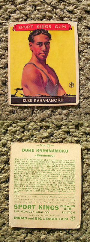 Other Surfing 2916: Duke Kahanamoku 1933 Sport Kings # 20 Gum Card Surfing Surfboard Surfer Surf BUY IT NOW ONLY: $179.0