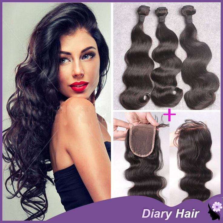 30 best virgin hair with lace closure images on pinterest virgin remy brazilian virgin human hair 3 bundles with lace closure body wave weave pmusecretfo Images