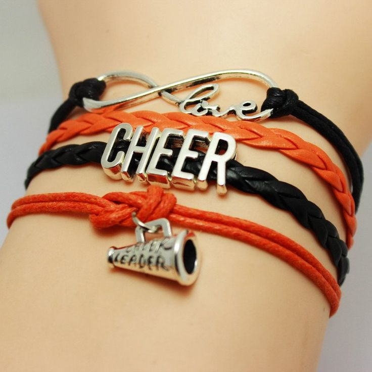 Love Cheerleading or need a Cheerleading gift? This bracelet makes the perfect Cheer Gift for Cheerleaders, Cheer Coaches and Cheer Teams! Length : 16cm+5cm (extender)