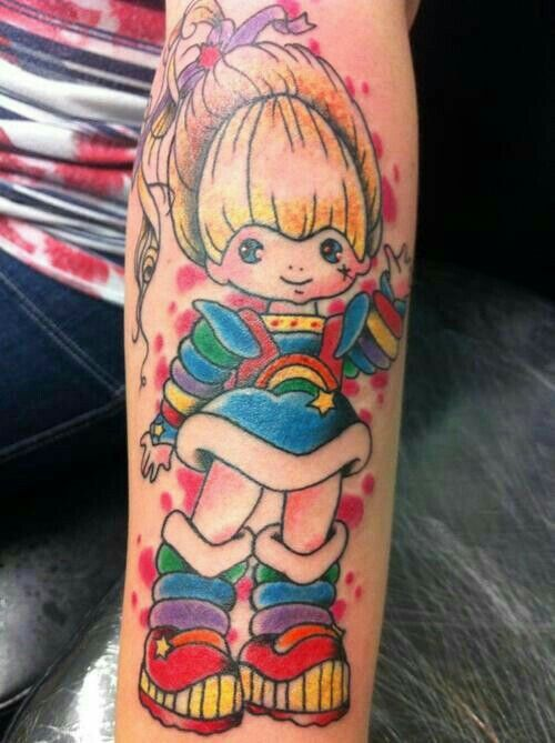 Rainbow brite tattoo #girlytattoo #80s