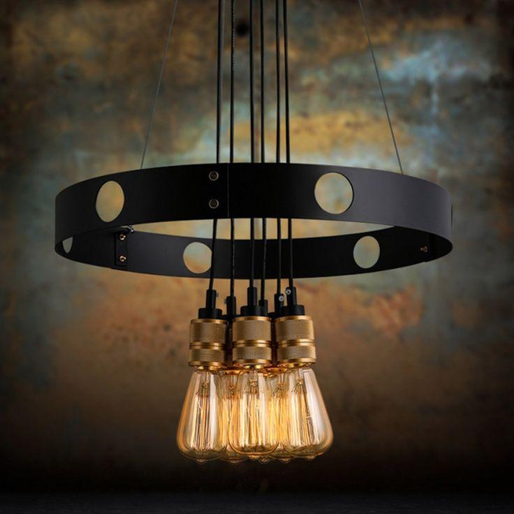 Industrial Loft Vintage Iron Pendant Light Warehouse American Country E27 Dining Room Cafe Bar Fixture Lamp lustres de sala