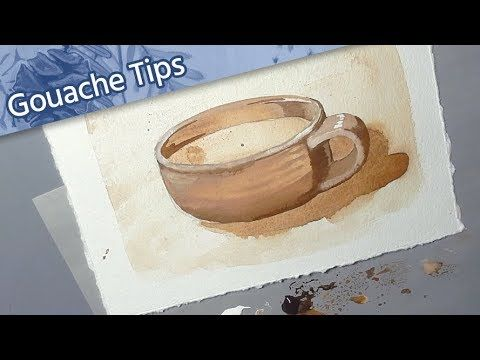 [ How to Use Gouache ] // Tutorial for Beginners — Tea to Butter Method // Mar…