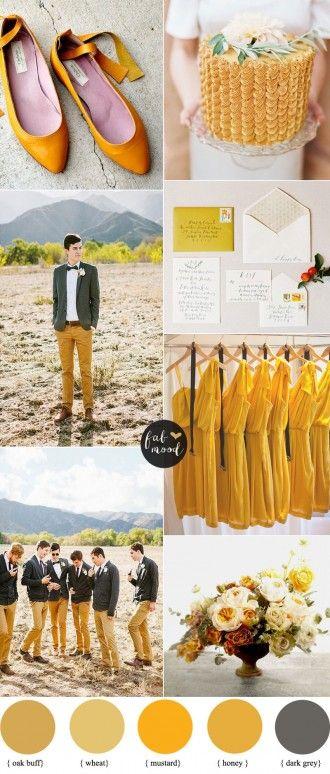 oak buff mustard autumn wedding colours | Pantone Fall 2015 inspired | fabmood.com