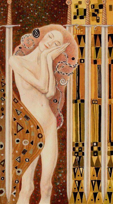 Tarot de Klimt par A. Atanassov 4 d'épées