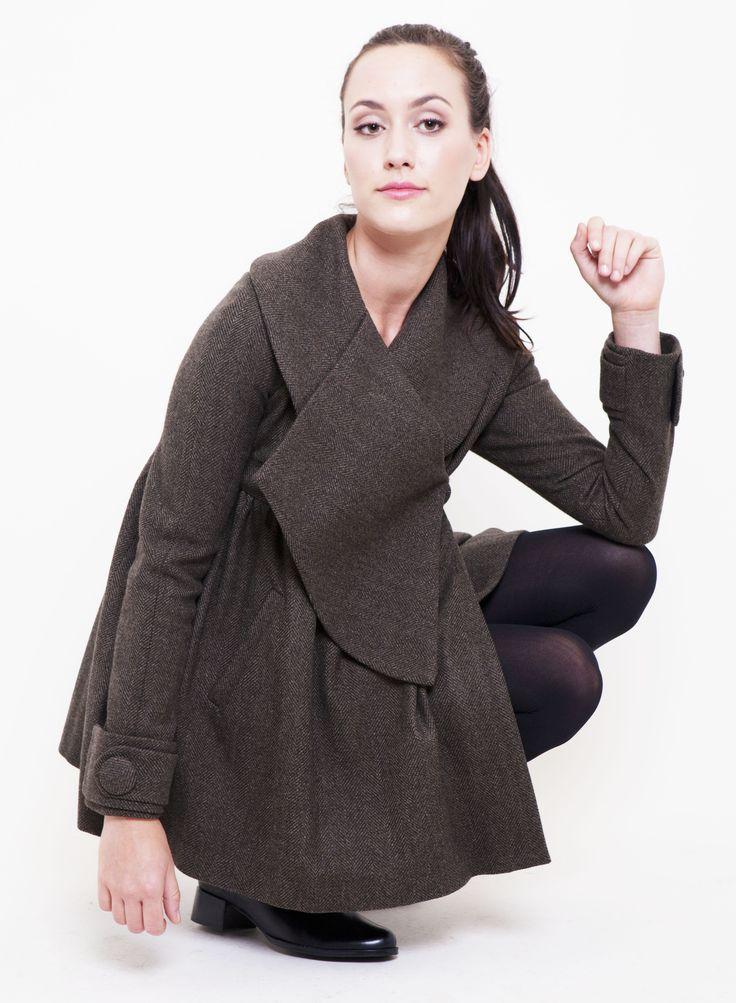 #TheBrunswick #Gehrich #Melbourne # Womensfashion #Collar #Button #Cuff #DarkGreen #Italianwoolandcashmere