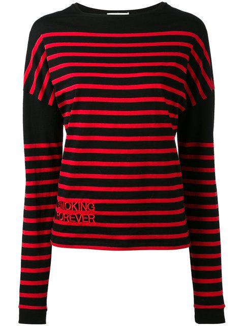 SAINT LAURENT Striped Jumper. #saintlaurent #cloth #jumper