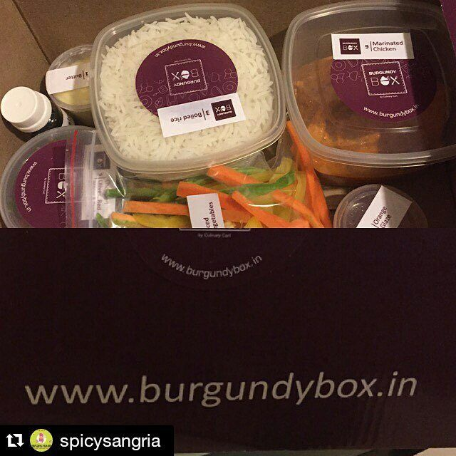 """Thankyou @spicysangria for ordering from us. We hope you had a delightful experience and keep calling for more and more. •••••••••••••••••""""A big thank you to the Burgundy Box!! Excited to make my own Chicken for dinner.. Ready to eat ingredients to be mixed together with instructions """"  #Burgundy #burgundybox #review #spicy #chicken #instructions @DIY #homefood #cook #chef #lovedit #online #happycustomers #happyus #repost #regram"""