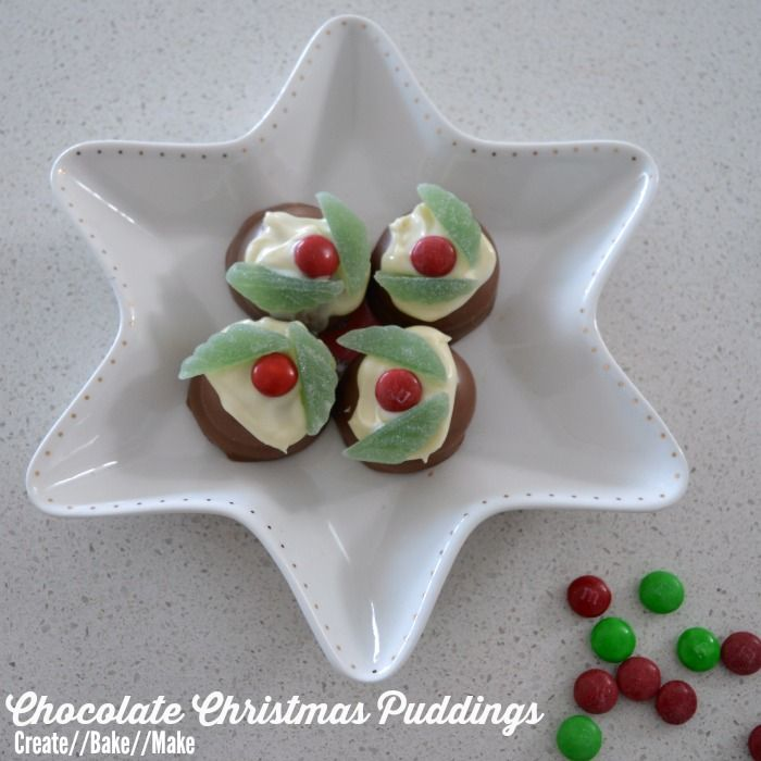 Chocolate Christmas Puddings - Create Bake Make