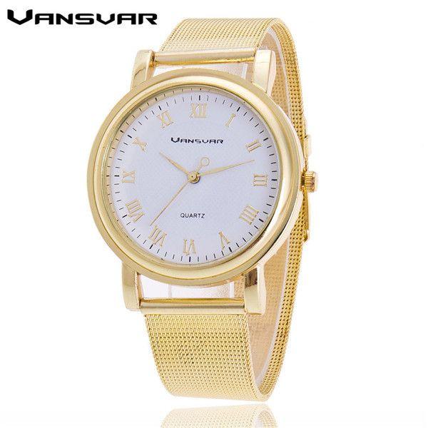 Vansvar Women Silver Watches Fashion Geneva Watches Ladies Casual Wrist Watch Quartz Watch Relogios Feminino Dames Horloges 1154