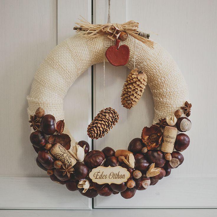 Őszi ajtódísz termésekből - Akvamarin Magazin