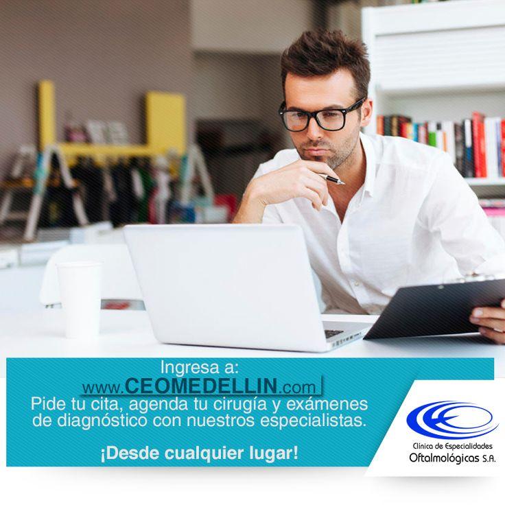 Agiliza la solicitud de tus citas ingresando a www.ceomedellin.com opción inicio, #ClínicaCeo www.ceomedellin.com