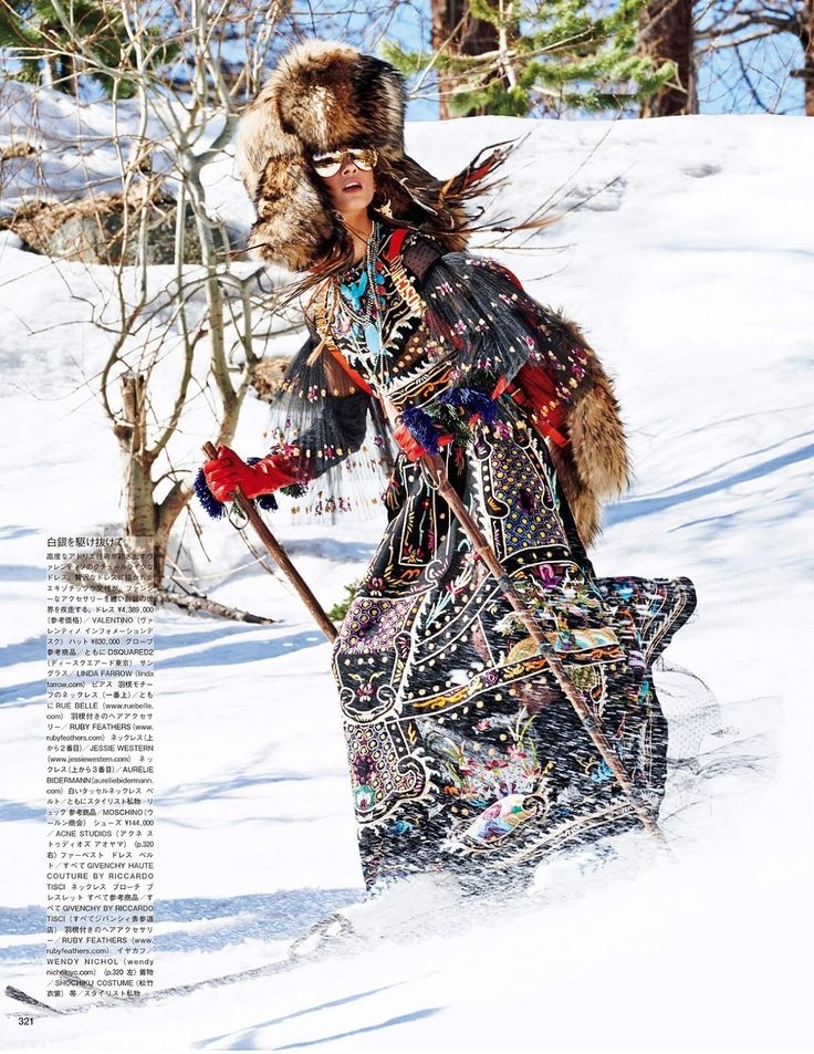 sacred tribes of mont cervin: anna selezneva by giampaolo sgura for vogue japan november 2015 |