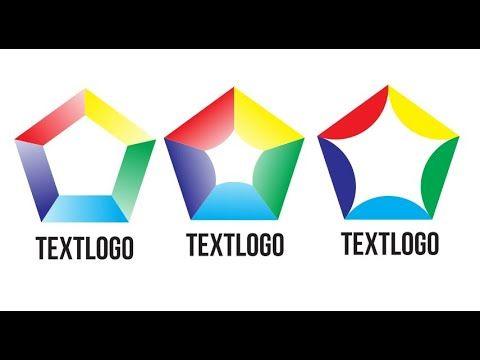 Pentagon Logo Design Tutorial ✅ How to Make Pentagon Logo