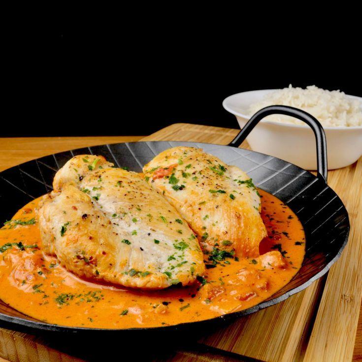 Chicken breast in a tomato cream cheese sauce   – Geflügel – Rezepte