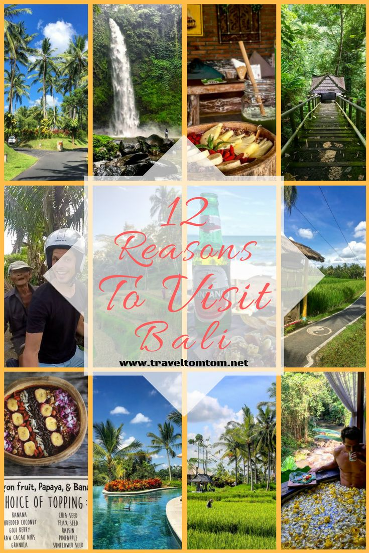 Dont we all want to travel to Bali? If you are not convinced yet here are 12 reasons to visit Bali! Get ready to pack your bags...