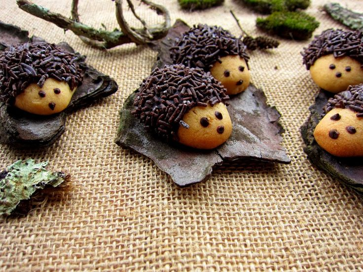 Una pincelada en la cocina: Erizos de galleta