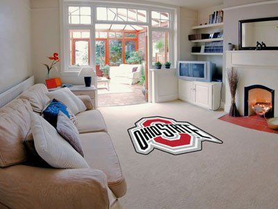 Ohio State Mascot Mat Approx. 3 ft x 4 ft