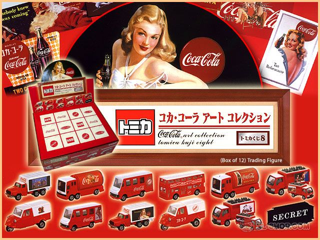 Tomy - Coca-Cola Art Collection - Tomica Kuji Eight (Box of 12)-72,8
