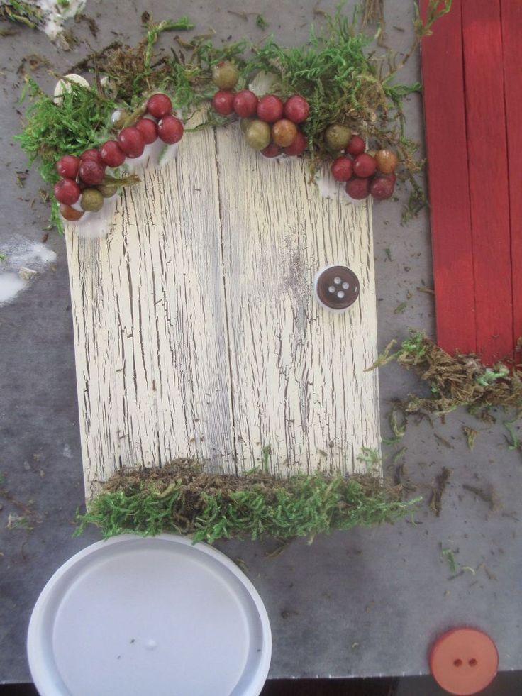 Fairy garden doors easy craft stick diy gardens crafts for Homemade elf door