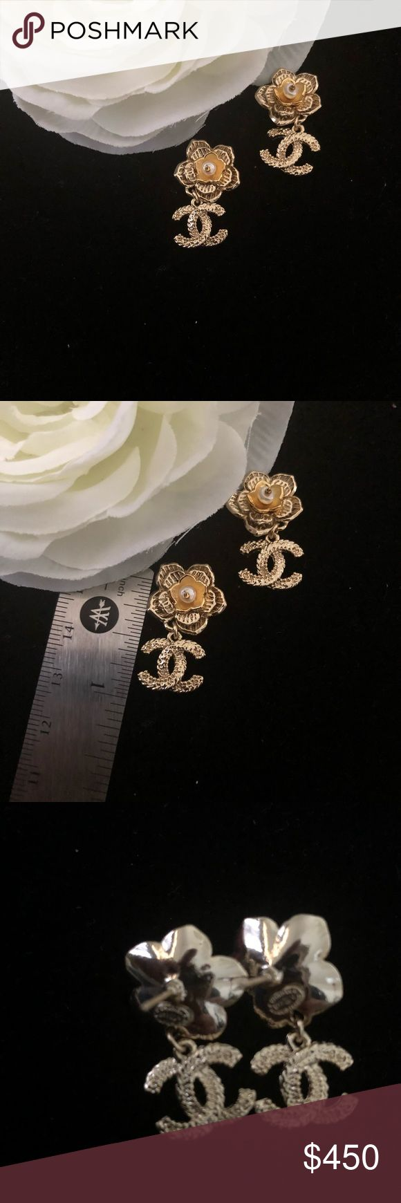 Chanel Flower Earrings Chanel Flower Earrings CHANEL Jewelry Earrings