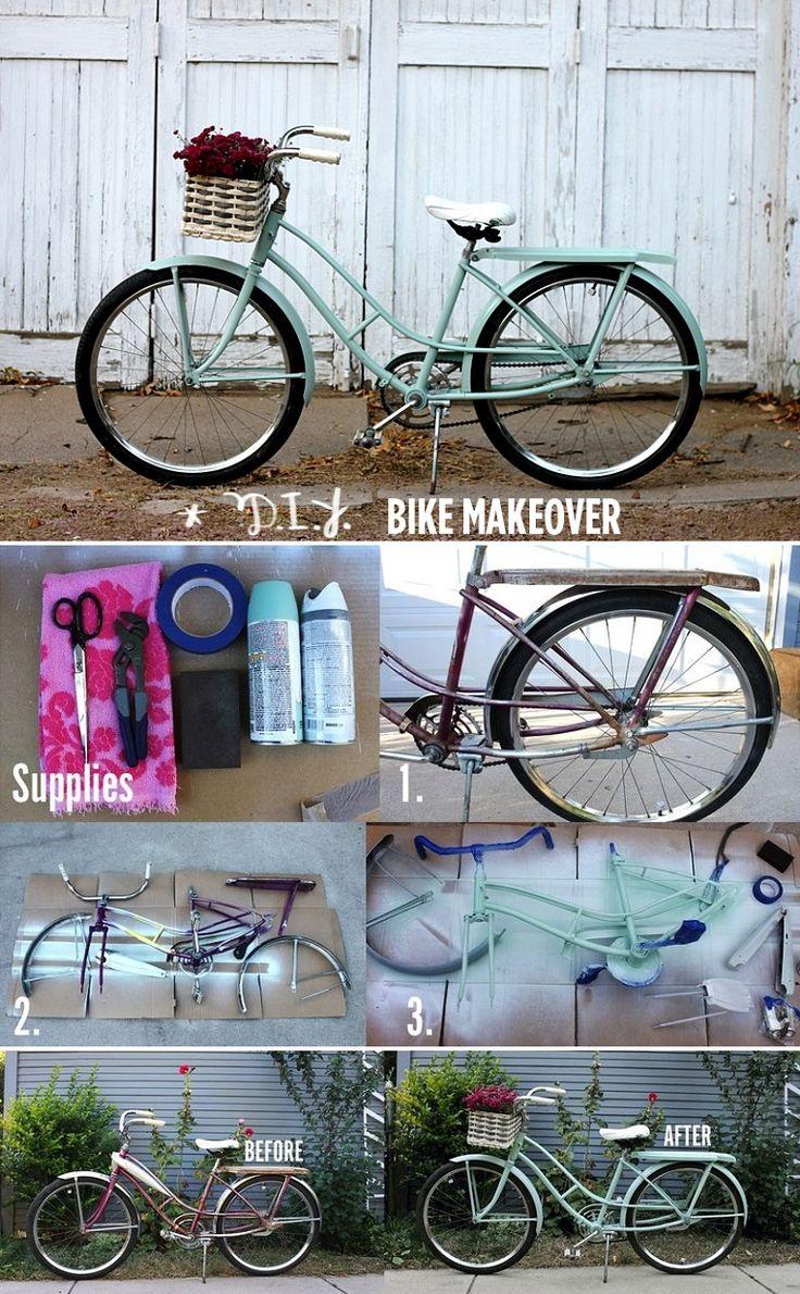 DIY Bike Makeover - 15 Chic DIY Ideas to Update Your Bike | GleamItUp