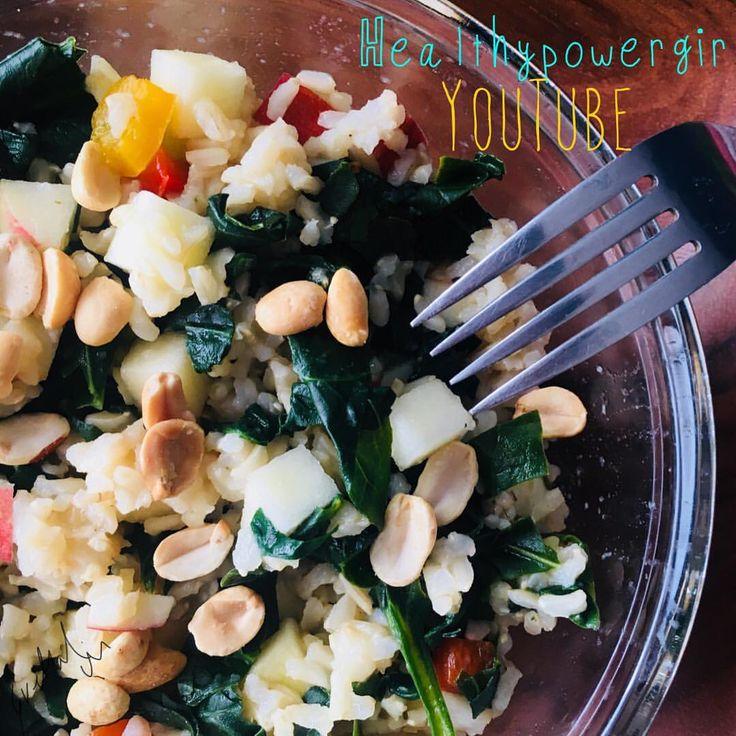 Healthy Power Girl. 💥👸🏼 🥗 🍚 Ensalada de arroz integral con vegetales. 🤤•A fuego medio 1/2 taza de arroz integral y dos tazas de agua ajo sal rosa y cebolla cuando este suave escurres, agregas espinacas cocidas manzana 🍎 pimiento manzana y cacahuate. Mezclas y listo. Suscríbete a mi canal de YouTube link en bio. #healthyfood #healthylifestyle #HPG #healthylifestyle #healthymom #fitness #maní #spinash #fit #fitgirl #fitmom #instapic #instafood #foodgram #foodlove #foodie #foodlover…
