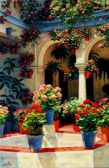 Patio at cordoba andaluc a spain spain pinterest - Decoracion patios interiores ...