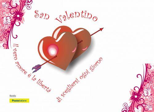 Una cartolina filatelica per festeggiare San Valentino