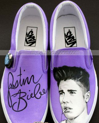 Justin Bieber Shoes Justin Bieber Hand Painted Canvas Shoes