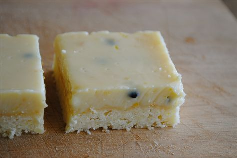 Passionfruit slice- Nick says this is the best dessert ever!