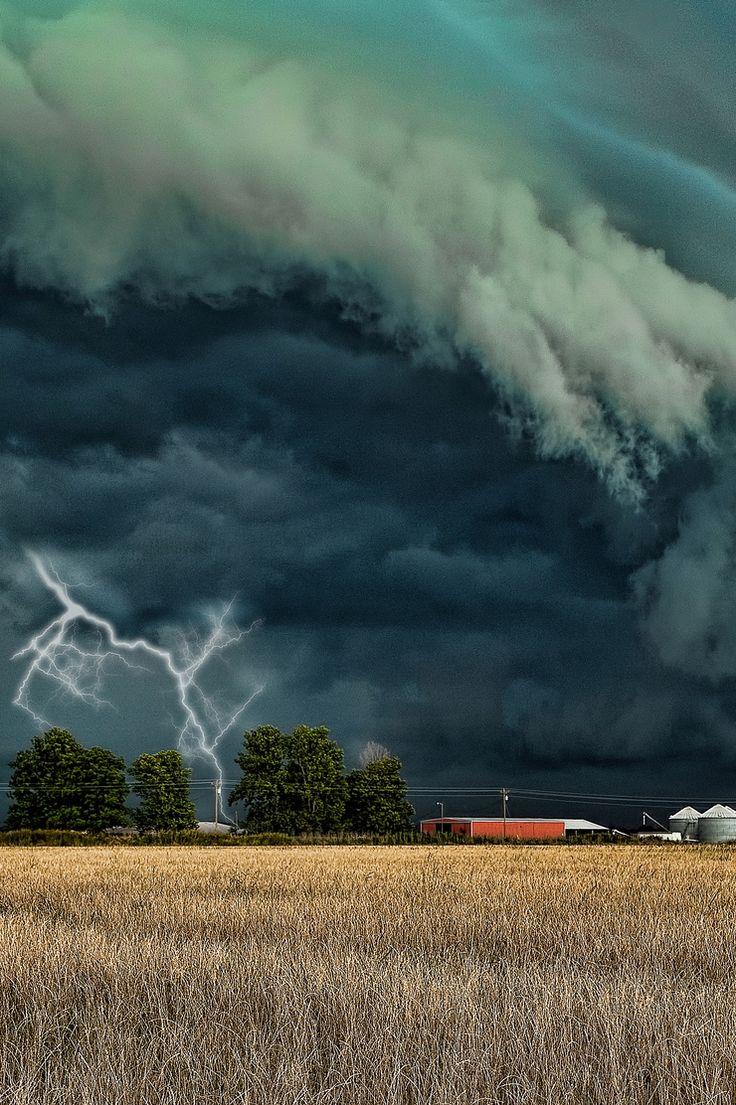 storm, cloud, lightning