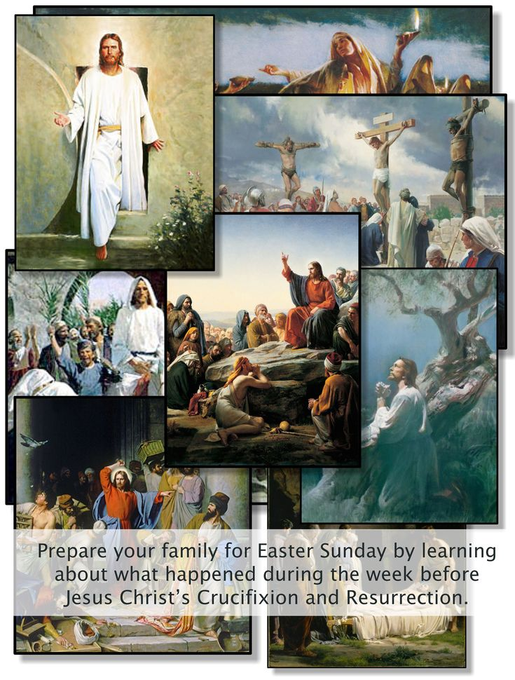 Prepare your family for Easter Sunday by learning about what happened during the week before Jesus Christ's Crucifixion and Resurrection. #easter #lds