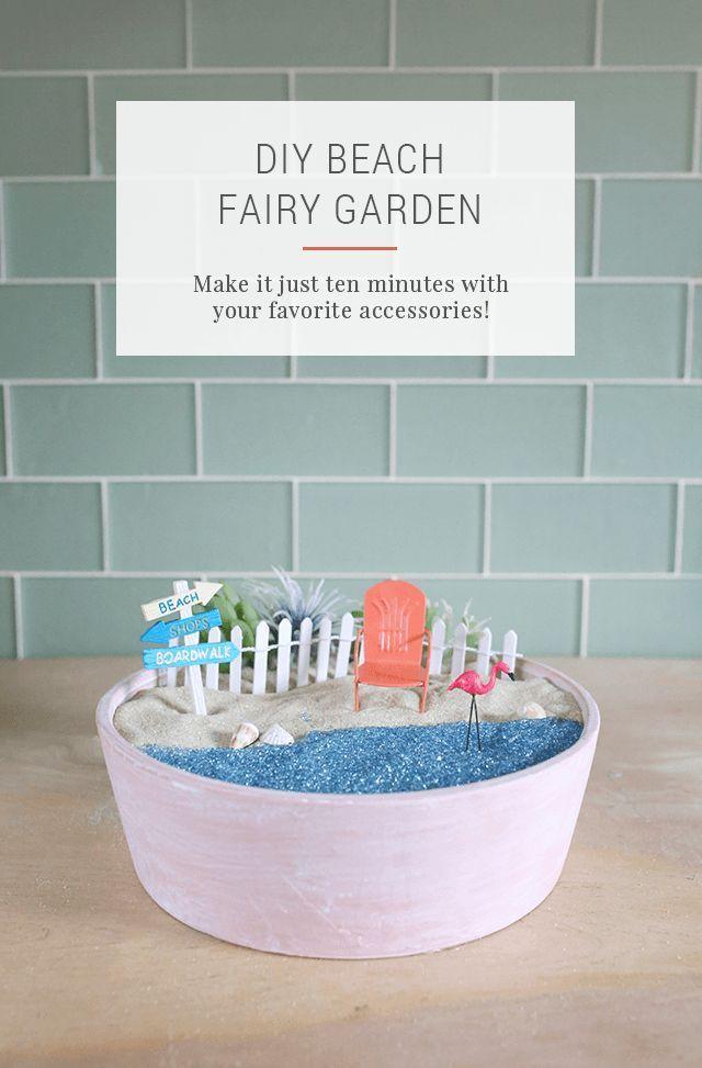 Best 25 beach fairy garden ideas on pinterest miniature for Diy miniature garden accessories