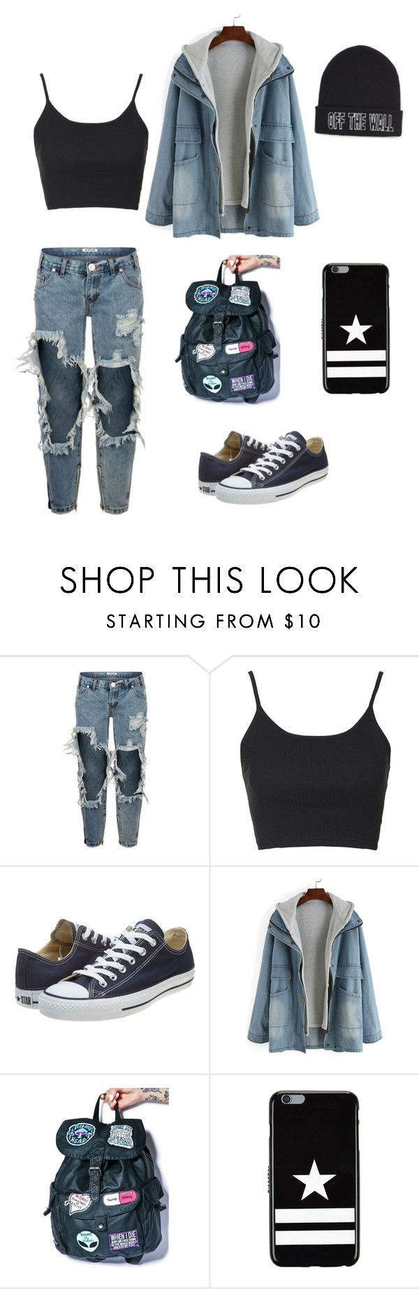 """""""Street style vol.2❤️"""" by nikolstone ❤ liked on Polyvore featuring One Teaspoon, Topshop, Converse, Disturbia, Givenchy, Vans, women's clothing, women, female and woman"""