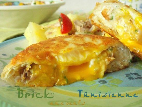 Brick tunisienne à l'oeuf | Le Blog cuisine de Samar