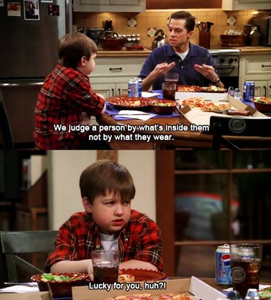 Hahahaha! I miss young Jake and the earlier seasons of Two and A Half Men!
