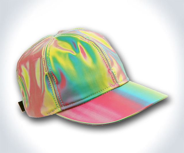 Here we have the one single thing* Back to the Future II got right in its big-screen predictions for the 2010s: trippy-looking neon spectrums are indeed the current rage. The pillow, the double rainbow hula hoop, and now the Marty McFly ultra-refracti