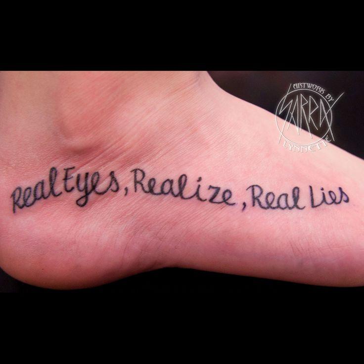 Tupac lyrics tattoo by Sarra Lynnette