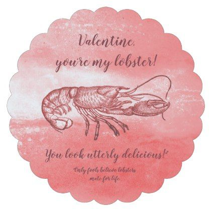 you are my lobster naughty valentine paper coaster home gifts ideas decor special unique custom