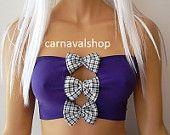 Bow bikini top Purple bandeau top-swimwear-swimsuit-Bikini top
